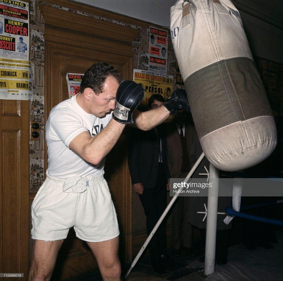 Henry Cooper training upstairs in 1966