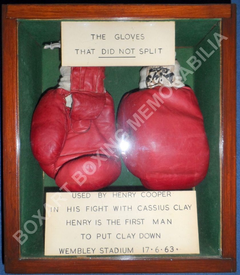 Henry Cooper's gloves from the Thomas A'Becket collection, sold for £100,000